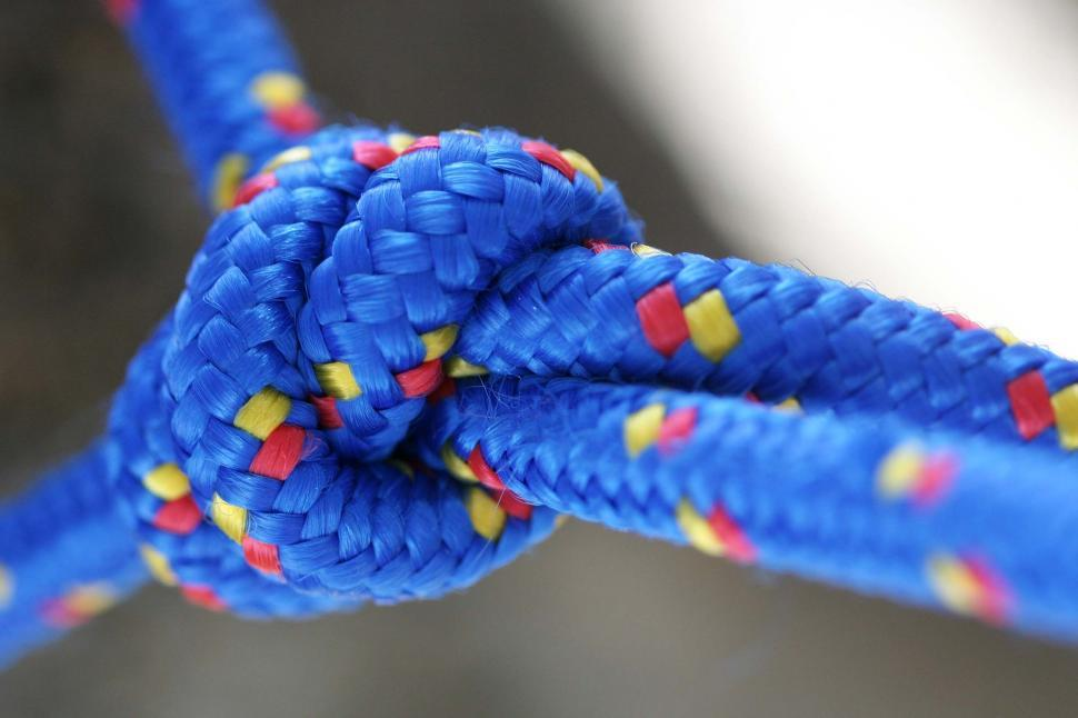 Download Free Stock HD Photo of Blue rope knot Online