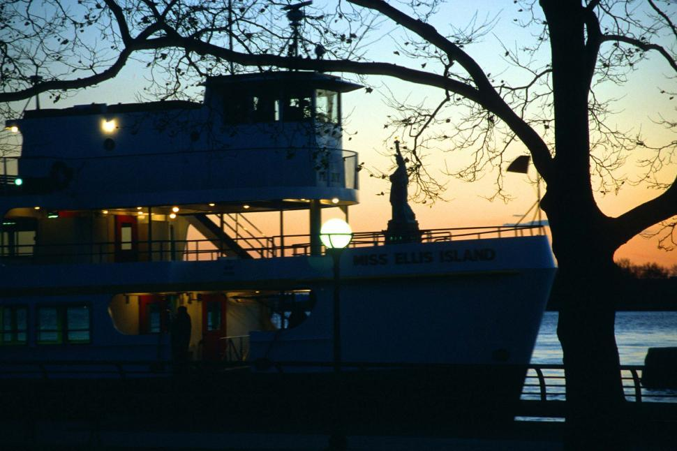 Download Free Stock HD Photo of Ellis Island Ferry Online