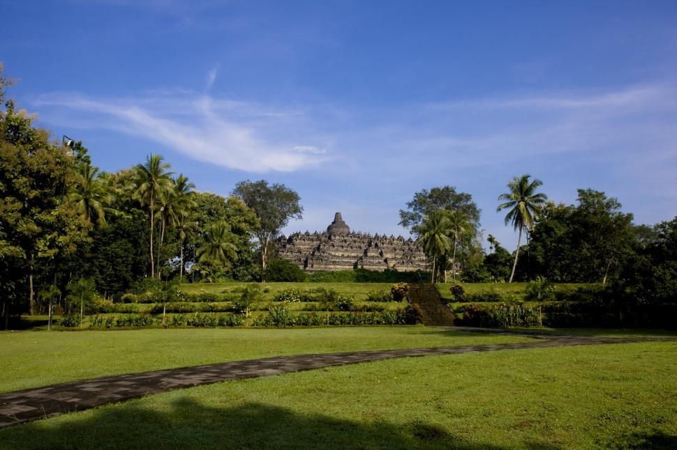 Download Free Stock HD Photo of Panoramic view of Borobudur Online