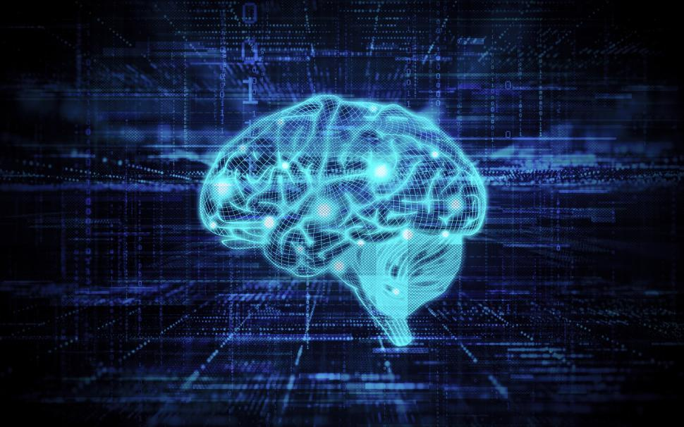 Concept of Artificial Intelligence on Abstract Background