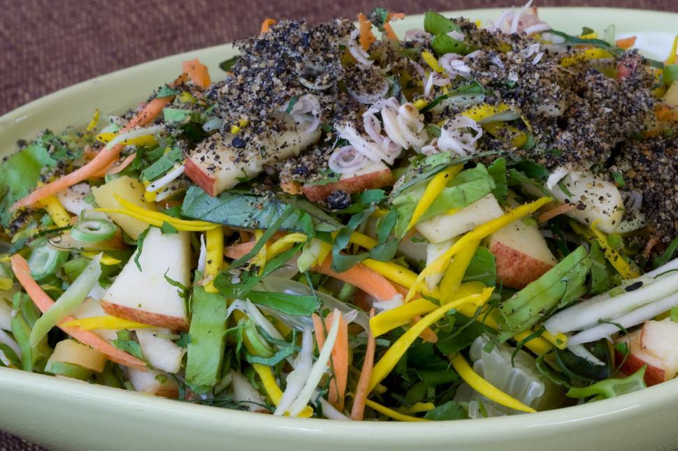 Download Free Stock HD Photo of Healthy Salad, mixed with many kinds of fruits&vegetable Online