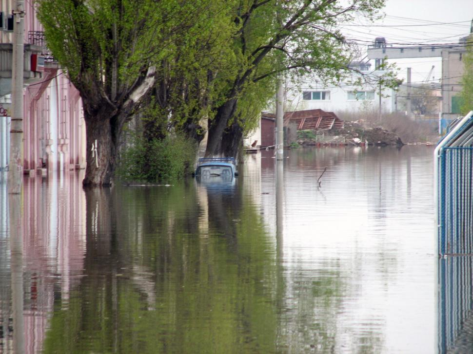 Download Free Stock HD Photo of Flooded urban area water invading the streets Online