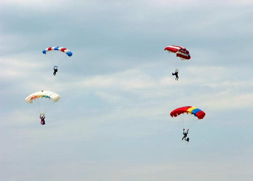 Download Free Stock HD Photo of Parachutes team Online