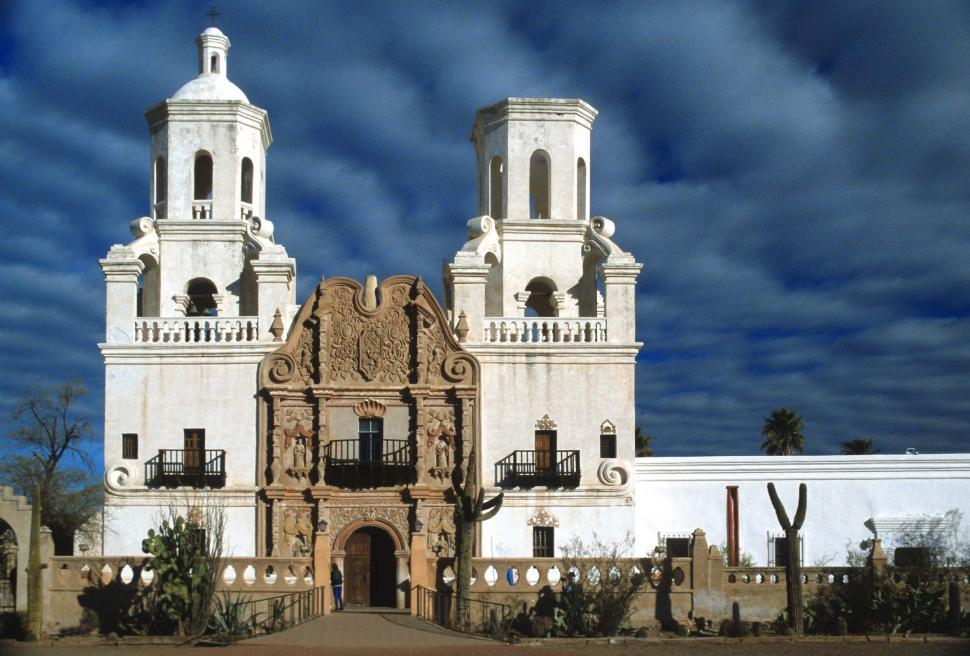 Download Free Stock HD Photo of Mission San Xavier del Bac near Tucson, Arizona Online