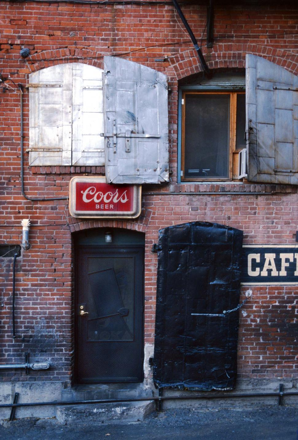 Download Free Stock HD Photo of Back alley behind bar - back entrance Online