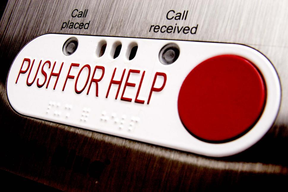 Download Free Stock HD Photo of Push for Help call Button Online