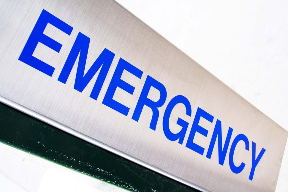 Download Free Stock HD Photo of Emergency sign tilted Online