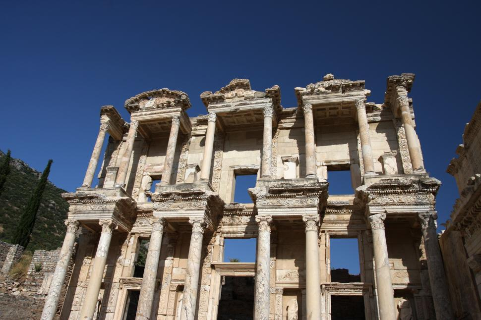 Download Free Stock HD Photo of Library of Celsus Online