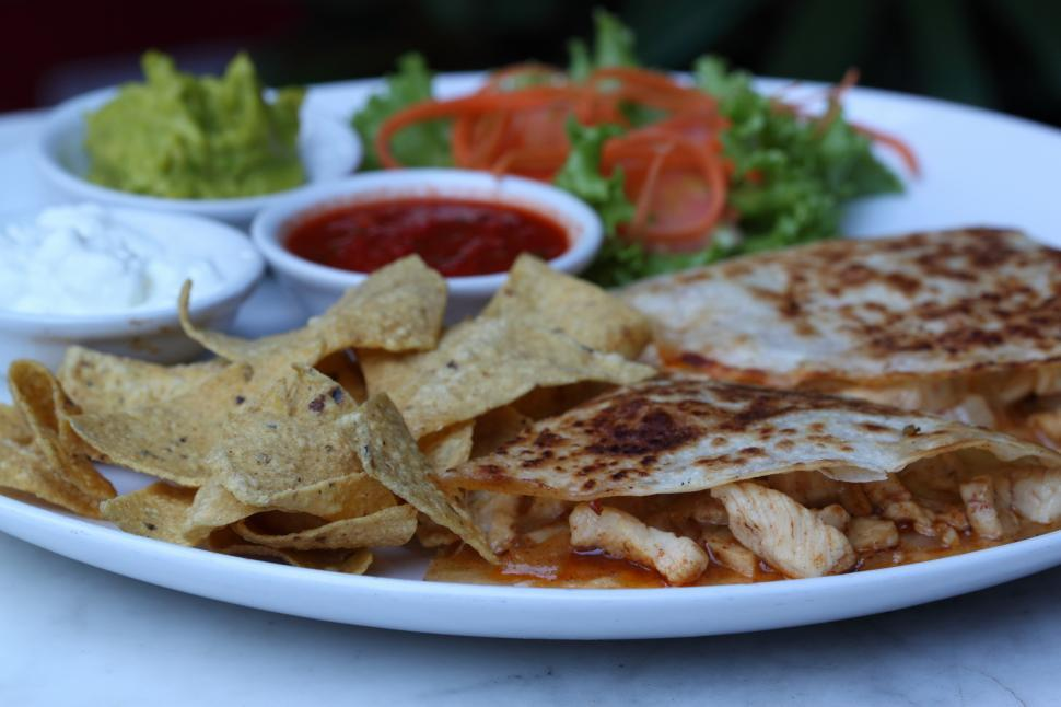 Download Free Stock HD Photo of Chicken Quesadilla Online