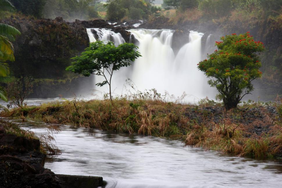 Free image of Waterfall on the Big Island, Hawaii.