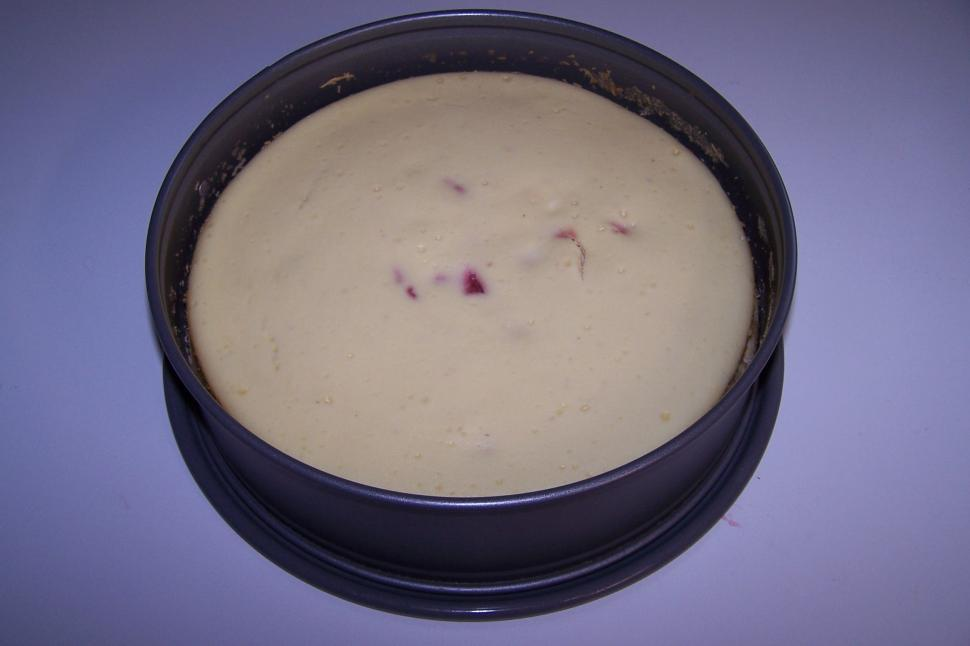 Download Free Stock HD Photo of Strawberry Cheesecake in Springform Pan Online