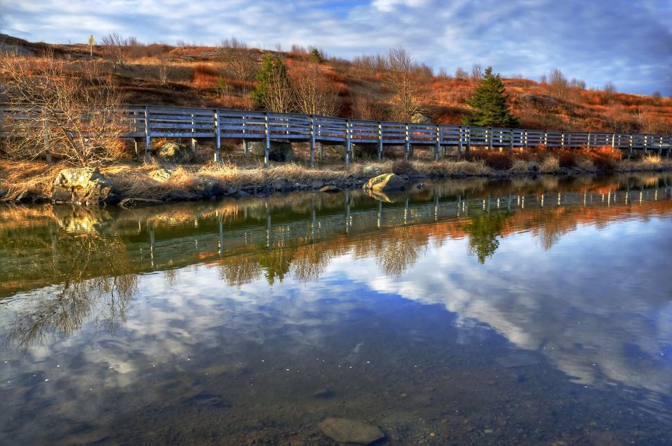 Download Free Stock HD Photo of Boardwalk reflection Online