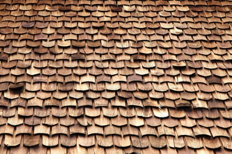 Download Free Stock HD Photo of Wooden shingle background Online