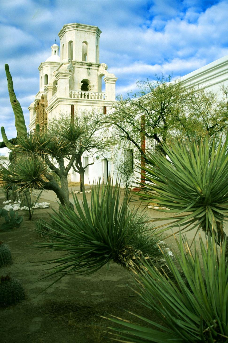 Download Free Stock HD Photo of Desert plants and Mission San Xavier Online