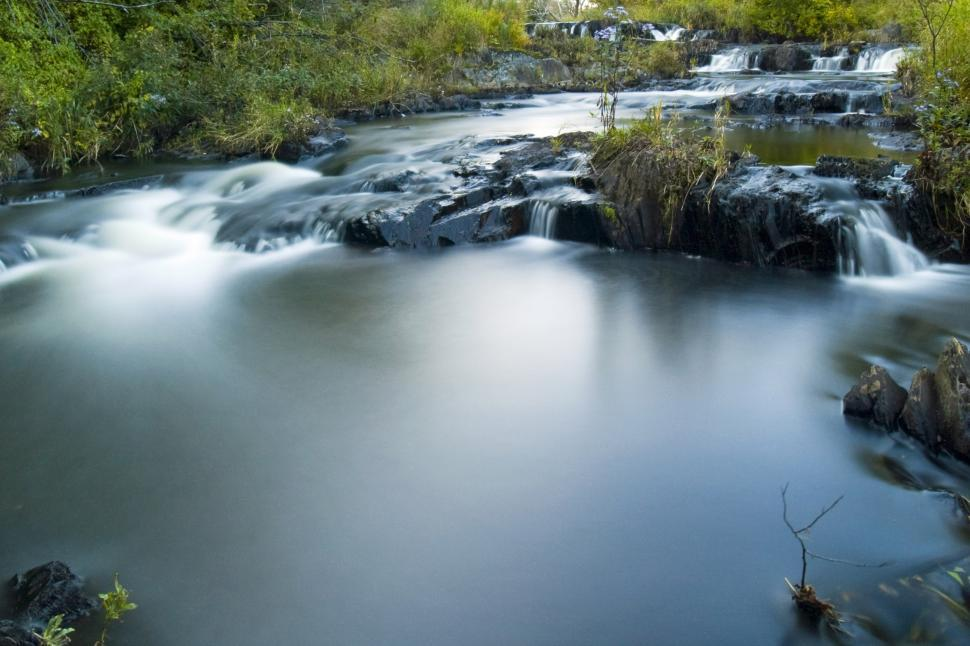 Free image of Long exposure of a river.
