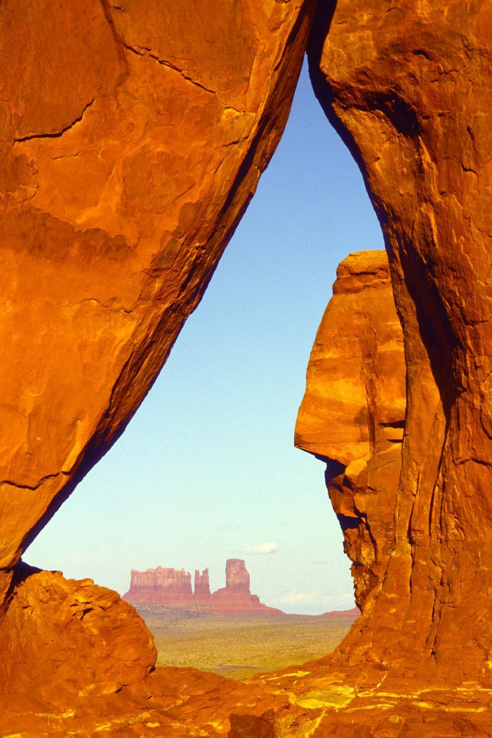 Download Free Stock HD Photo of Rock window in Monument Valley Online