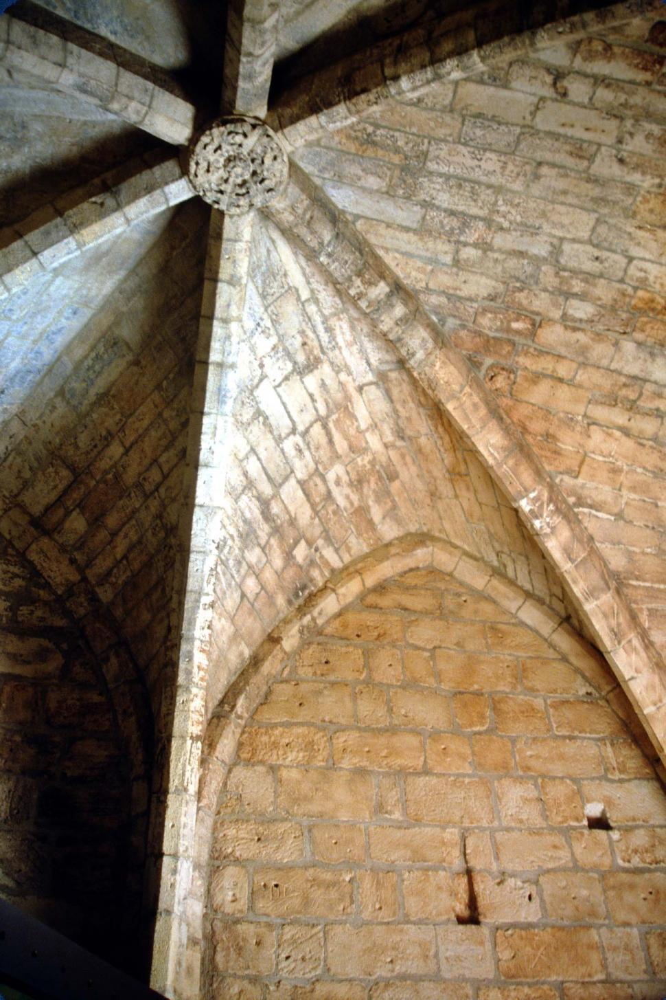 Download Free Stock HD Photo of Vaulted stone ceiling  Online