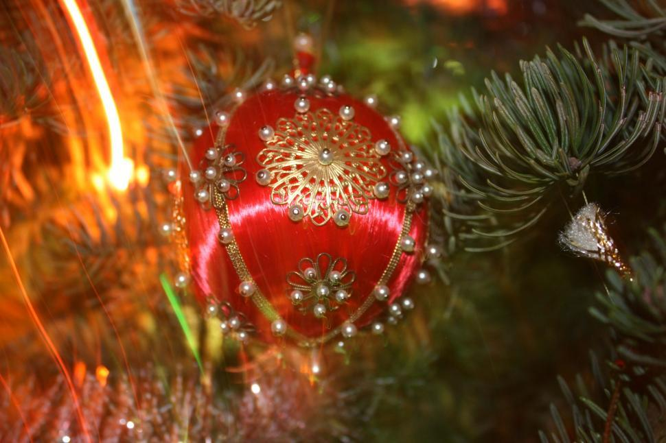 download free stock hd photo of old fashioned christmas ornament and blurred lights2 online