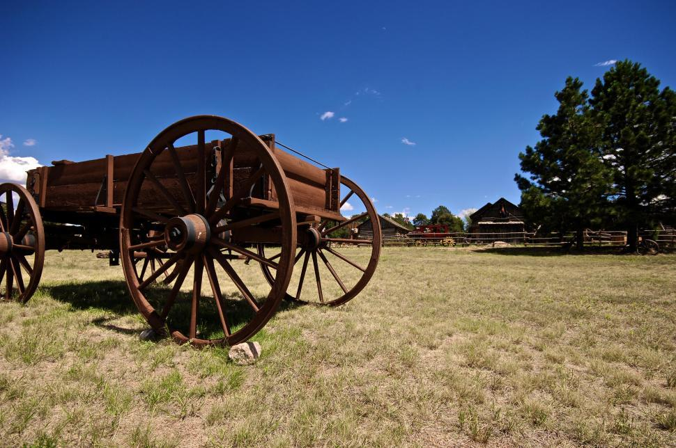 Download Free Stock HD Photo of Wooden wagon Online