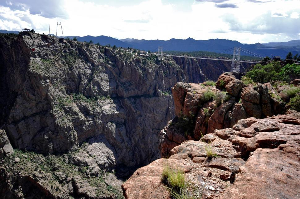 Download Free Stock HD Photo of Bridge across canyon Online
