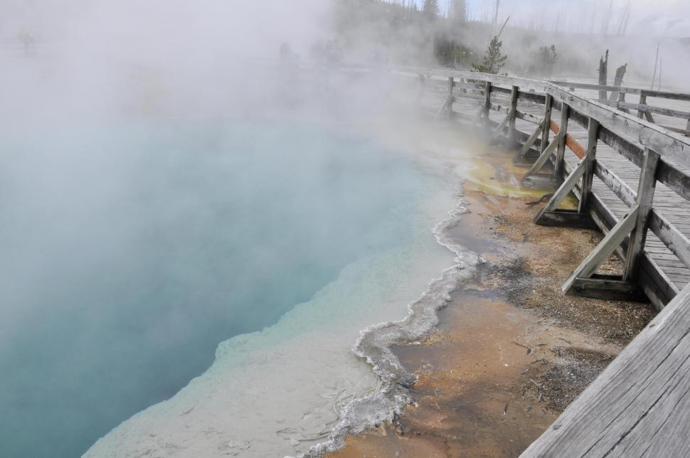 Download Free Stock HD Photo of Hot spring in Yellowstone National Park Online