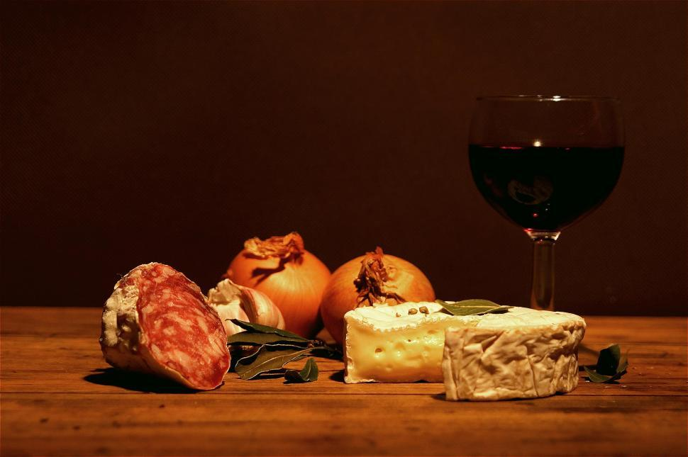 Download Free Stock HD Photo of Cheese and wine Online