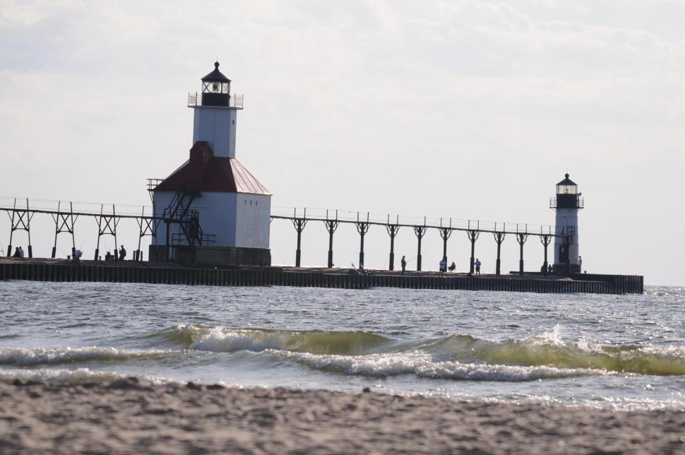 Download Free Stock HD Photo of Two lighthouses Online