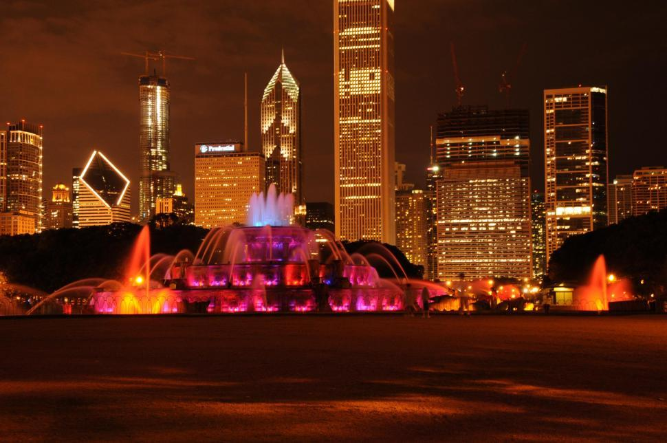 Download Free Stock HD Photo of Colorful fountain in Chicago Online