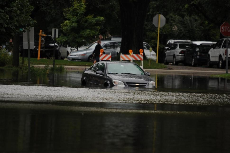 Download Free Stock HD Photo of Submerged car Online