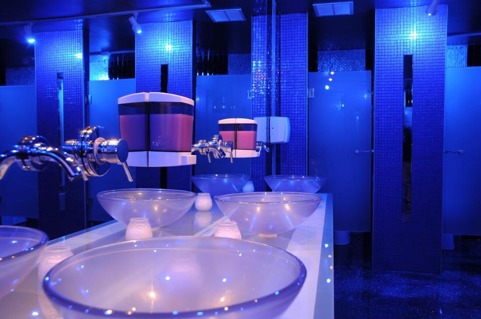 blue led bathroom lights get free stock photos of blue restroom 17465