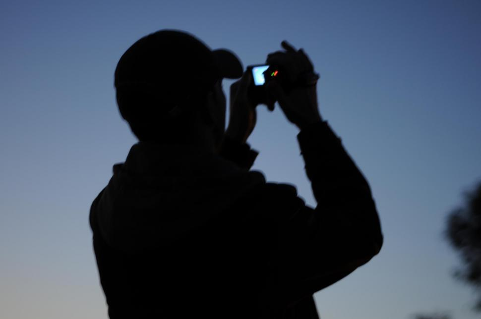 Download Free Stock HD Photo of Silhouette of cameraman Online