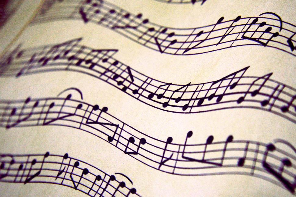Download Free Stock HD Photo of Distorted sheet music Online