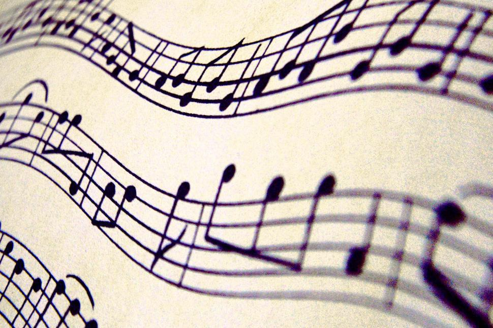 Download Free Stock HD Photo of Wavy music notes background Online