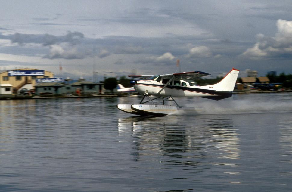 Download Free Stock HD Photo of Seaplane takeoff Online