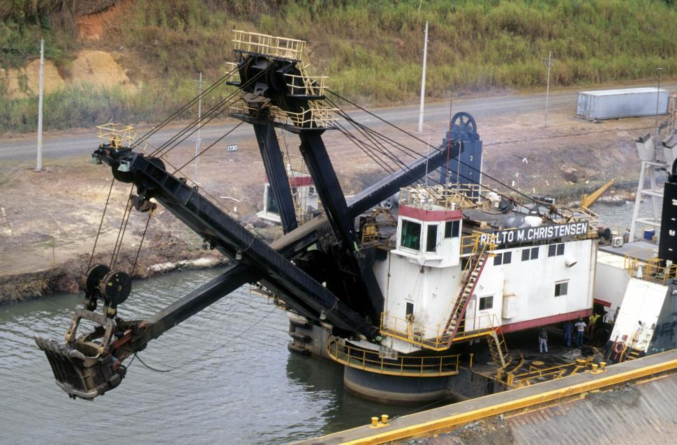 Download Free Stock HD Photo of Backhoe dredger Online