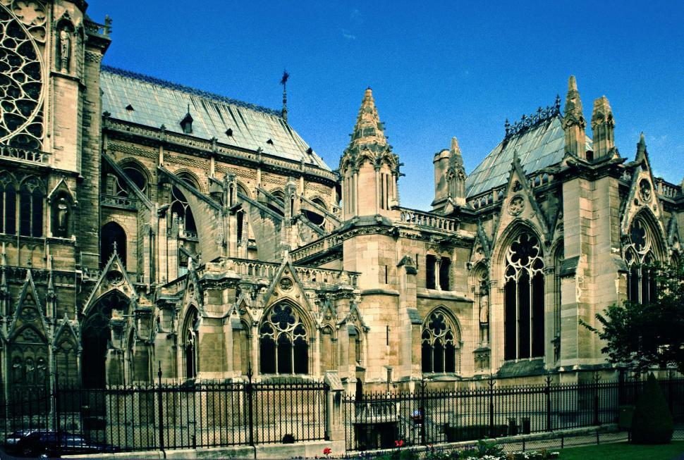 Download Free Stock HD Photo of Side of Notre Dame Online