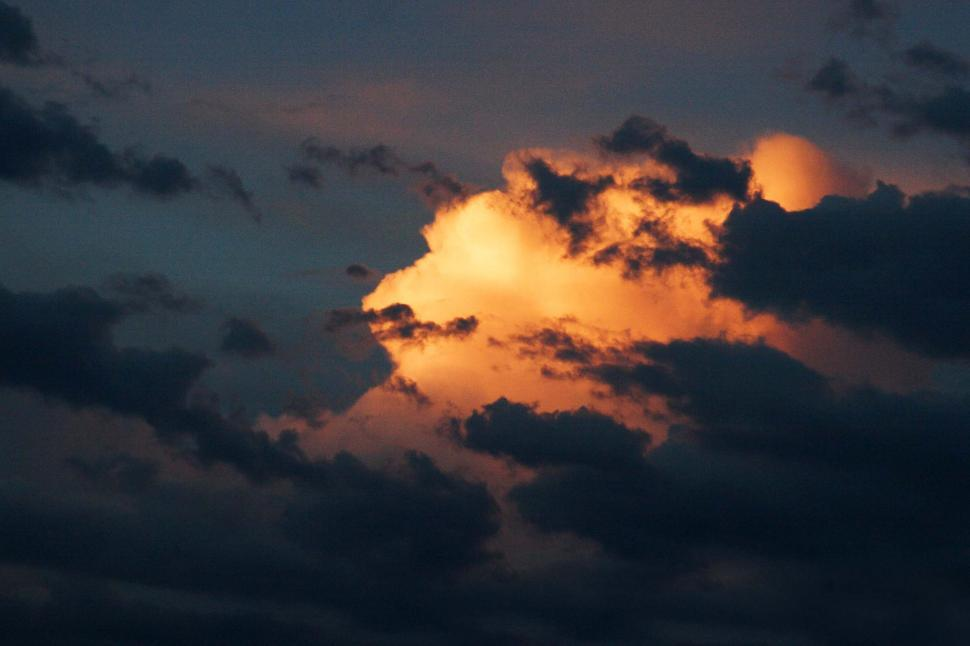 Download Free Stock HD Photo of One illuminated cloud Online
