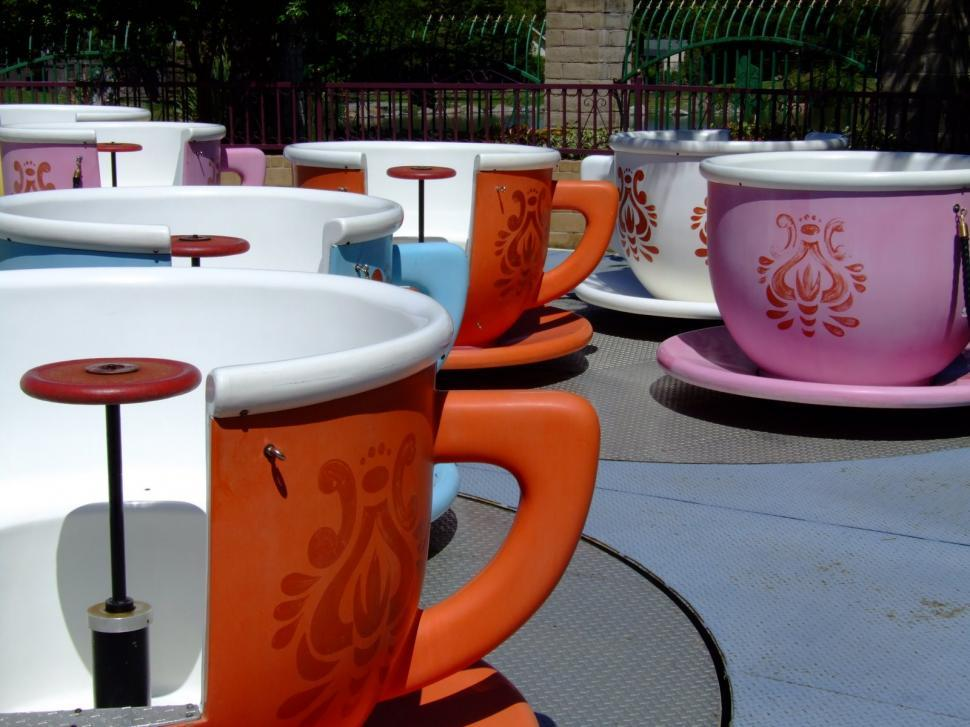 Download Free Stock HD Photo of Kids Rides Tea Cups Online