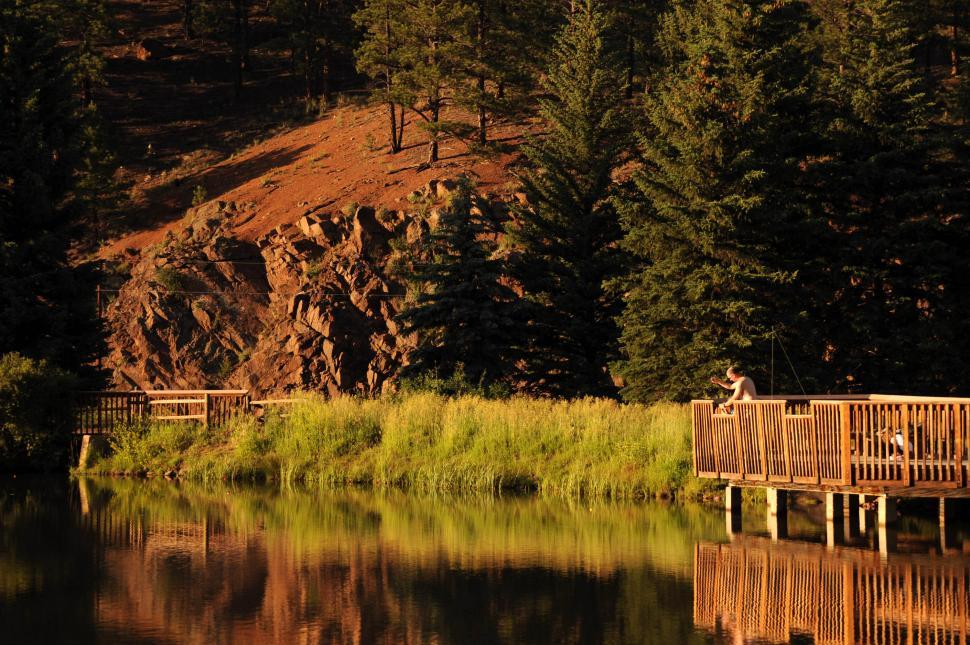 Download Free Stock HD Photo of Deck on a lake Online