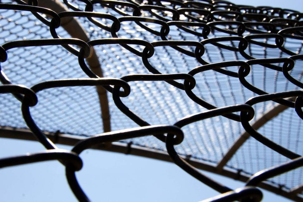 Download Free Stock HD Photo of Chain link backstop Online