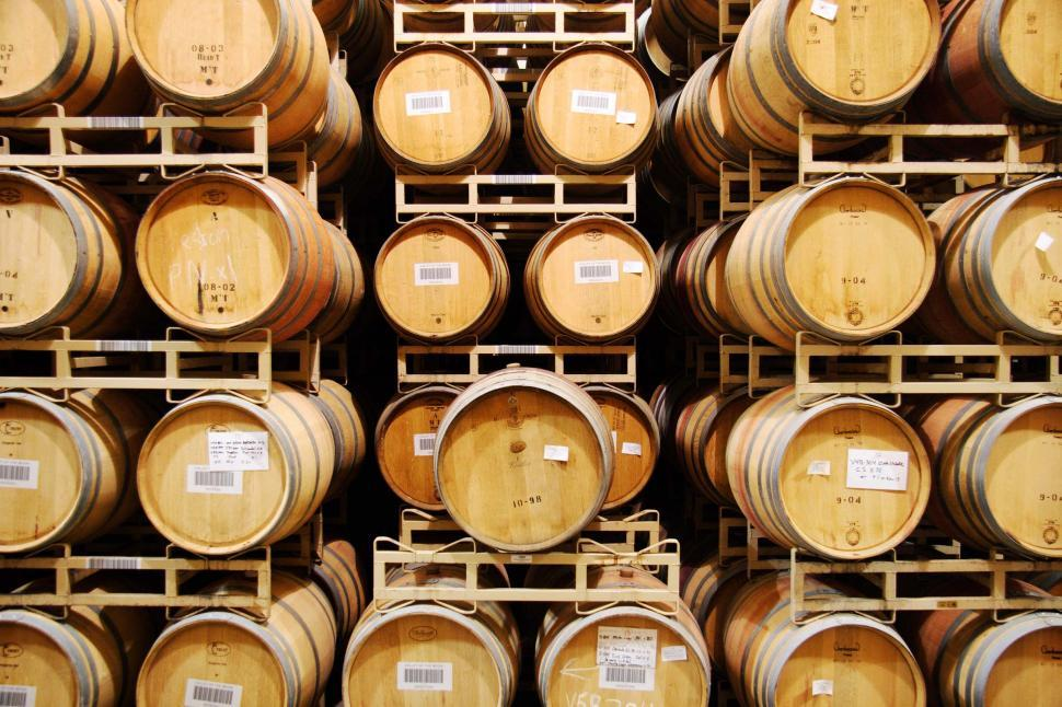 Download Free Stock HD Photo of Oak wine barrels Online