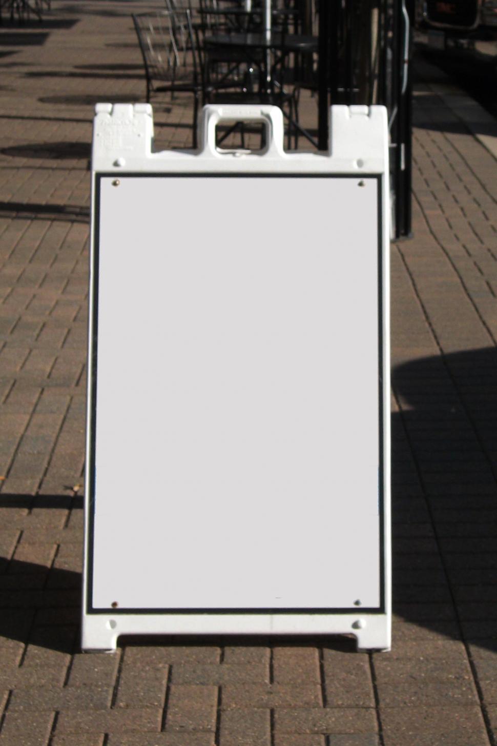 Download Free Stock HD Photo of Blank sandwich board Online
