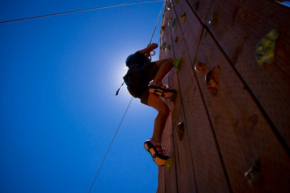 Download Free Stock HD Photo of Climbing in the Sun Online