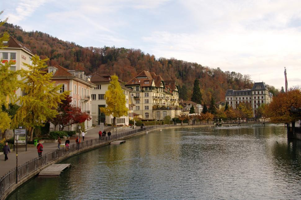 Download Free Stock HD Photo of town of thun Online