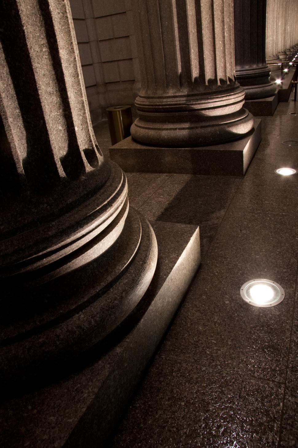 Download Free Stock HD Photo of Granity columns with lights Online