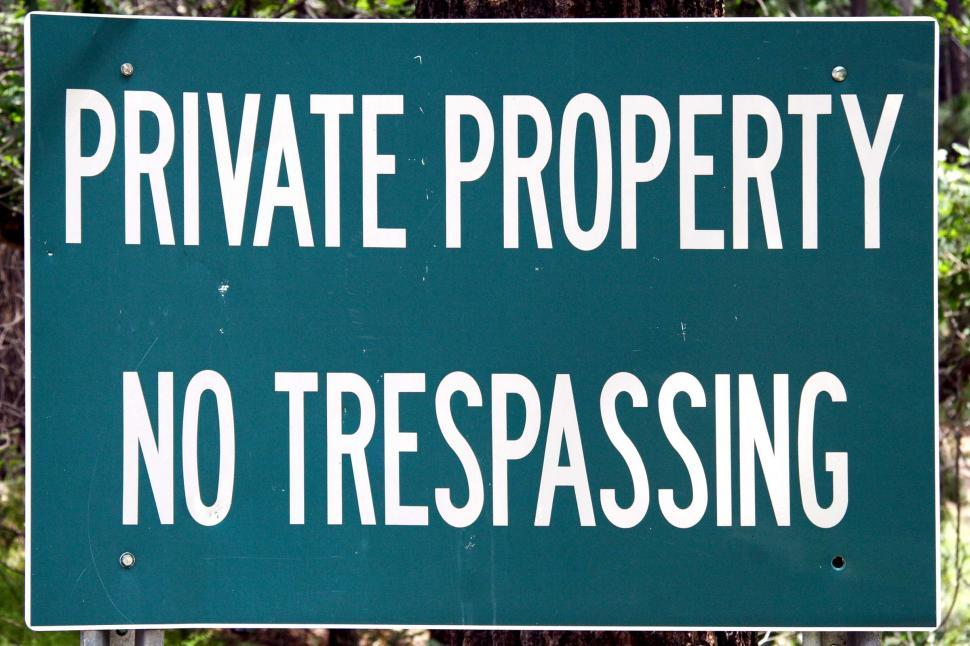 Download Free Stock HD Photo of Private Property No Trespassing Online