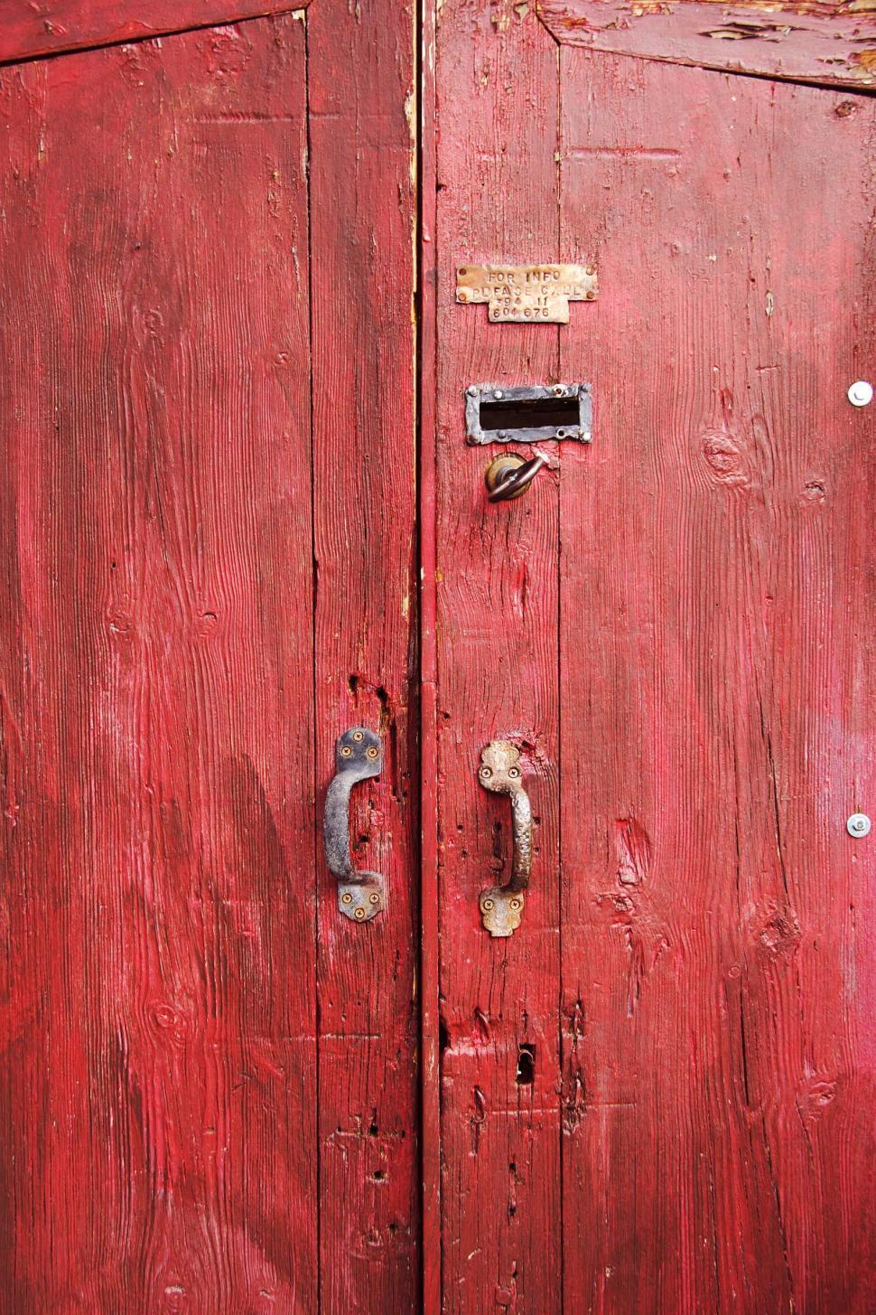 Download Free Stock HD Photo of Red wooden doors Online