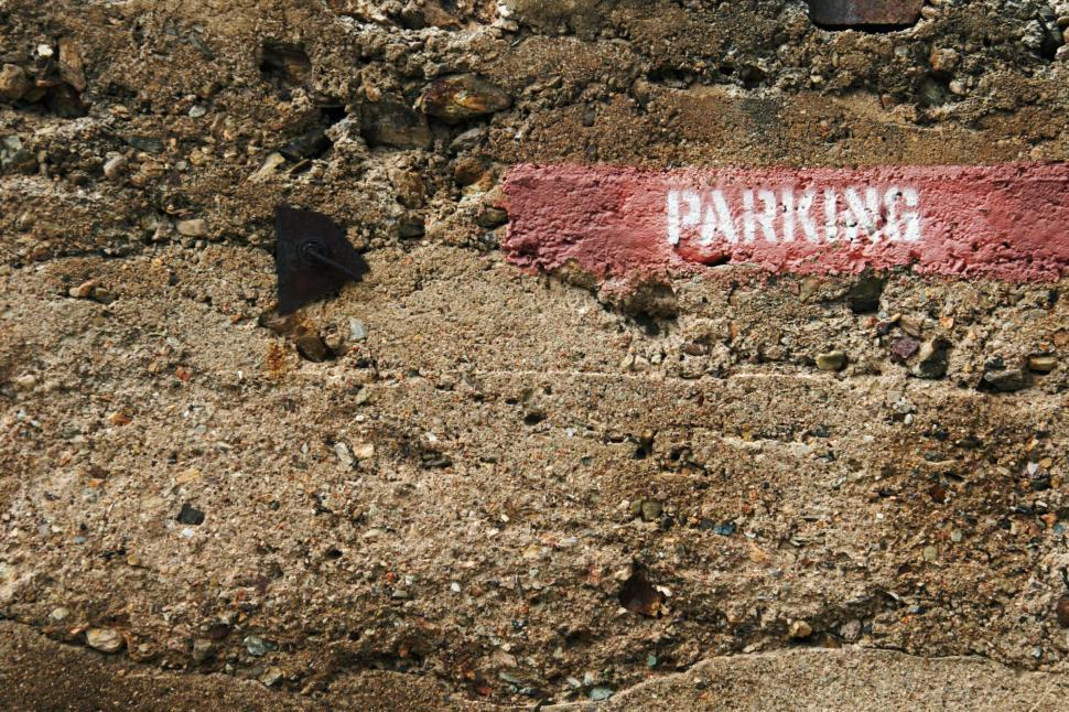 Download Free Stock HD Photo of Parking sign painted Online