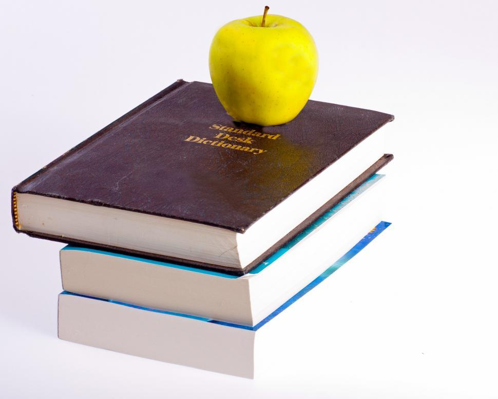 Download Free Stock HD Photo of Apple and Textbooks Online
