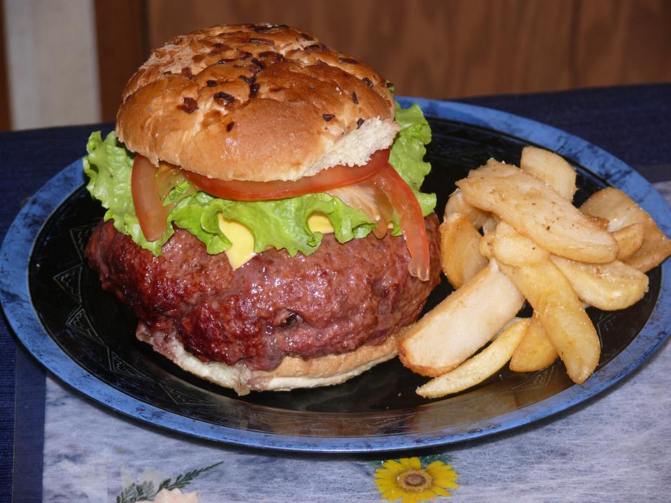 Download Free Stock HD Photo of Giant Hamburger Online